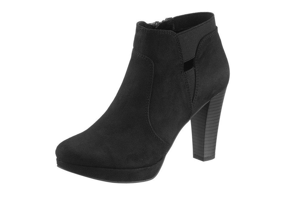 s.Oliver High Heel Stiefelette in schwarz