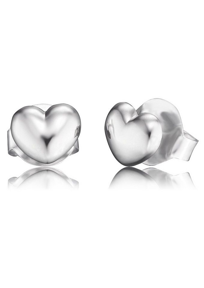NAHU Paar Ohrstecker, »Herz, NAE-LOVE« in Silber 925