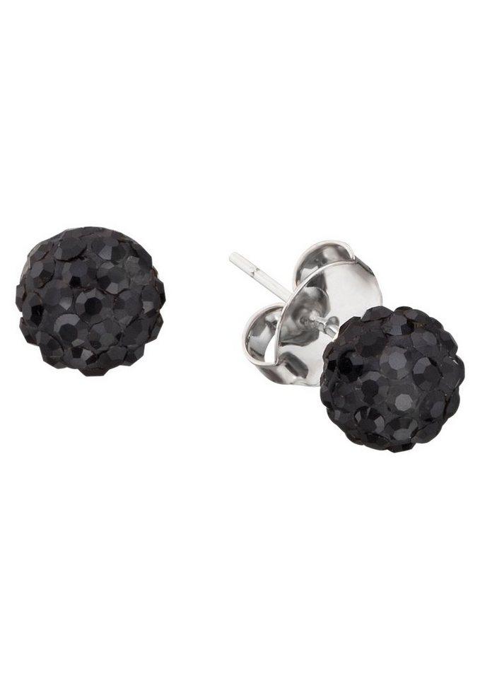 NAHU Paar Ohrstecker, »NAE-POLARIS-01« in Silber 925/schwarz