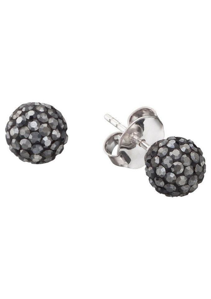 NAHU Paar Ohrstecker, »NAE-POLARIS-03« in Silber 925/grau
