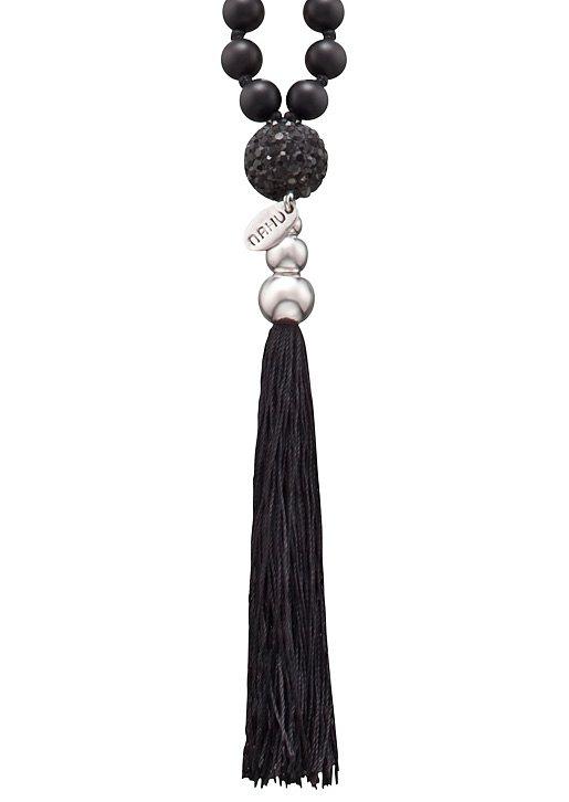 NAHU Halskette, »NAN-POLARIS-01« in Silber 925/schwarz