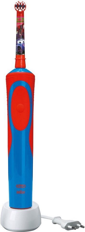 Oral-B, Elektrische Zahnbürste, Stages Power mit Disney-Autos und -Flugzeugen in blau/rot