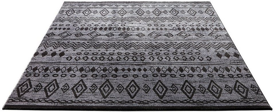 Teppich, Wecon home, »Contemporary Kelim«, gewebt in schwarzgrau