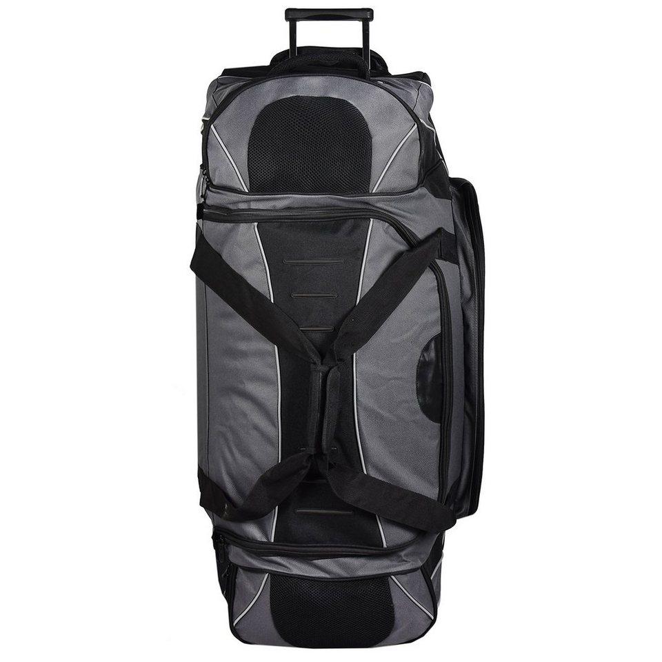 Dermata Reisetasche XXL Rollenreisetasche 95 cm in schwarz grau