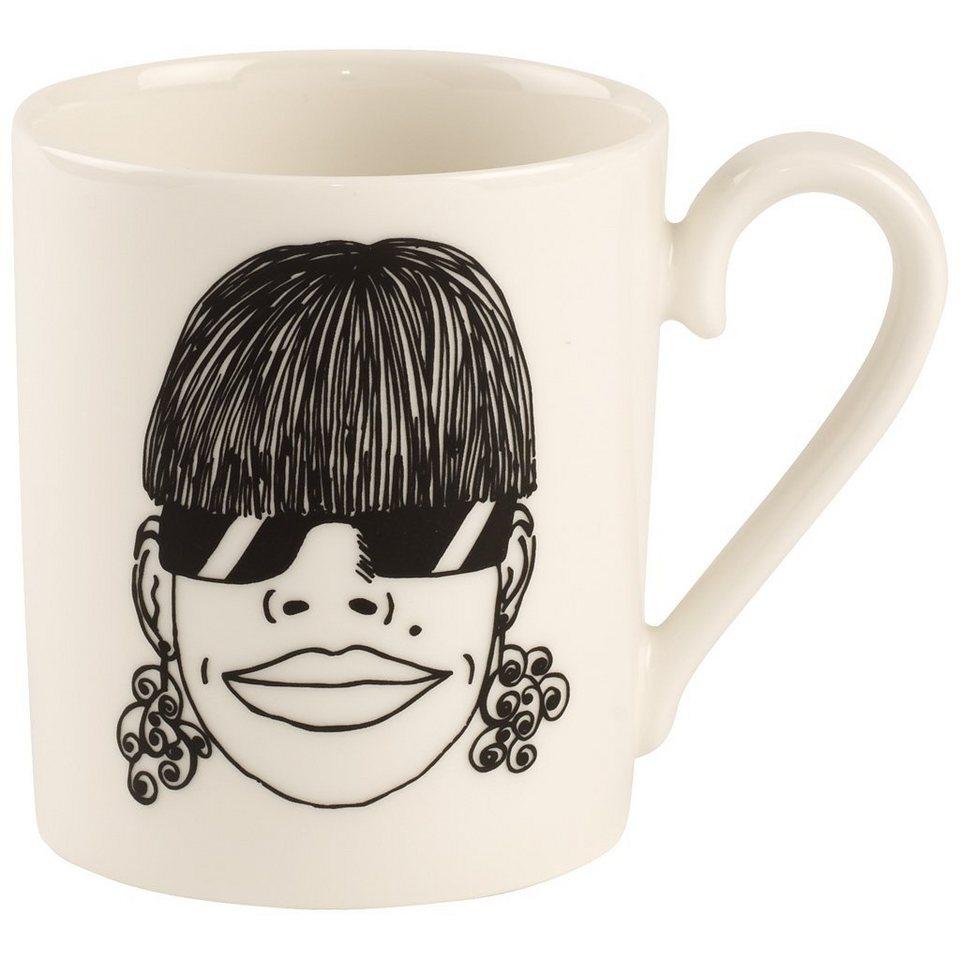 VILLEROY & BOCH Becher mit Henkel Violetta »Little Gallery Mugs« in Dekoriert
