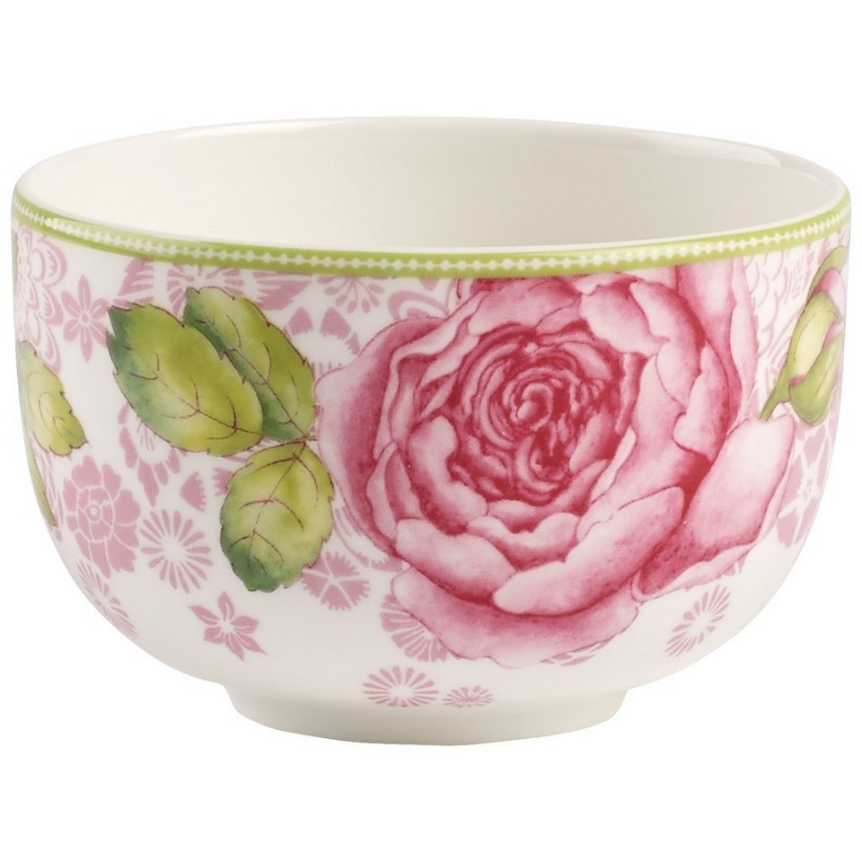 VILLEROY & BOCH Teeschale - pink »Rose Cottage« in Dekoriert
