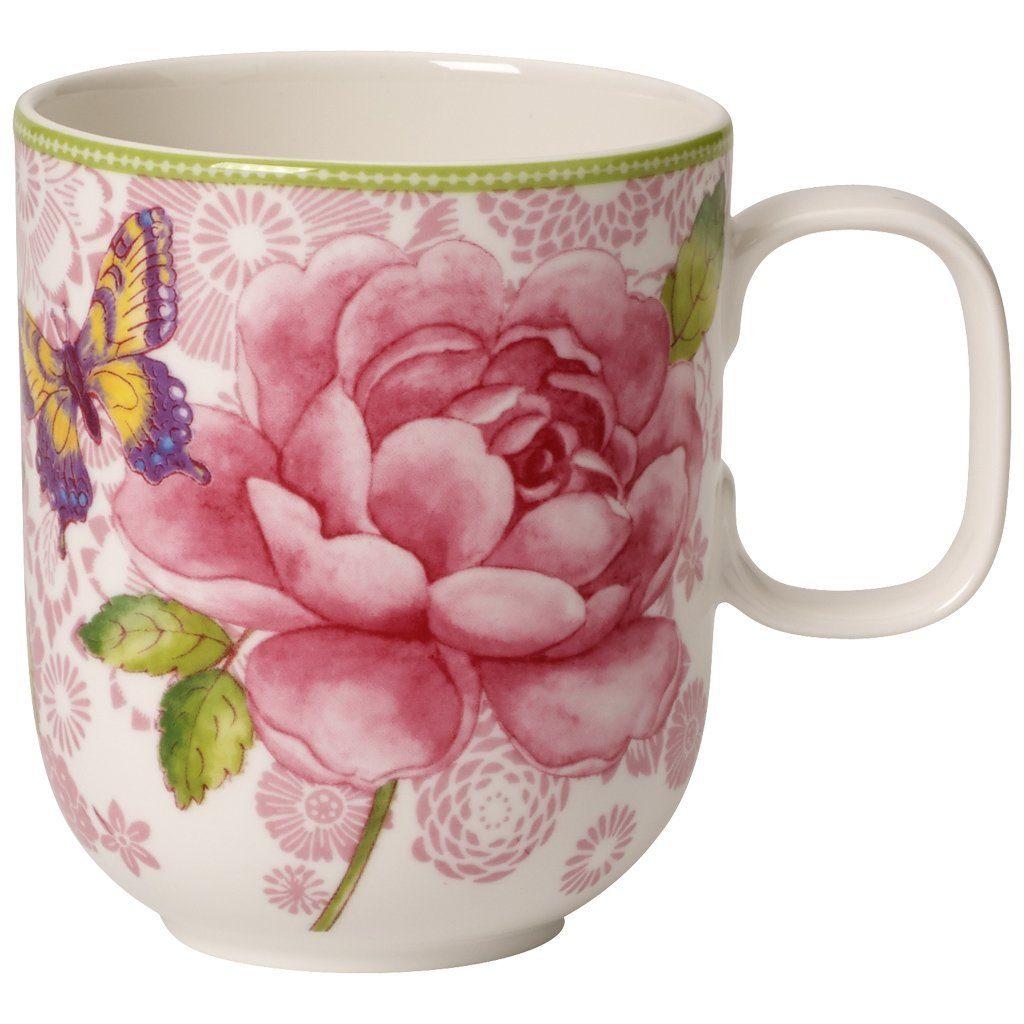 Villeroy & Boch Becher m. Henkel - pink »Rose Cottage«