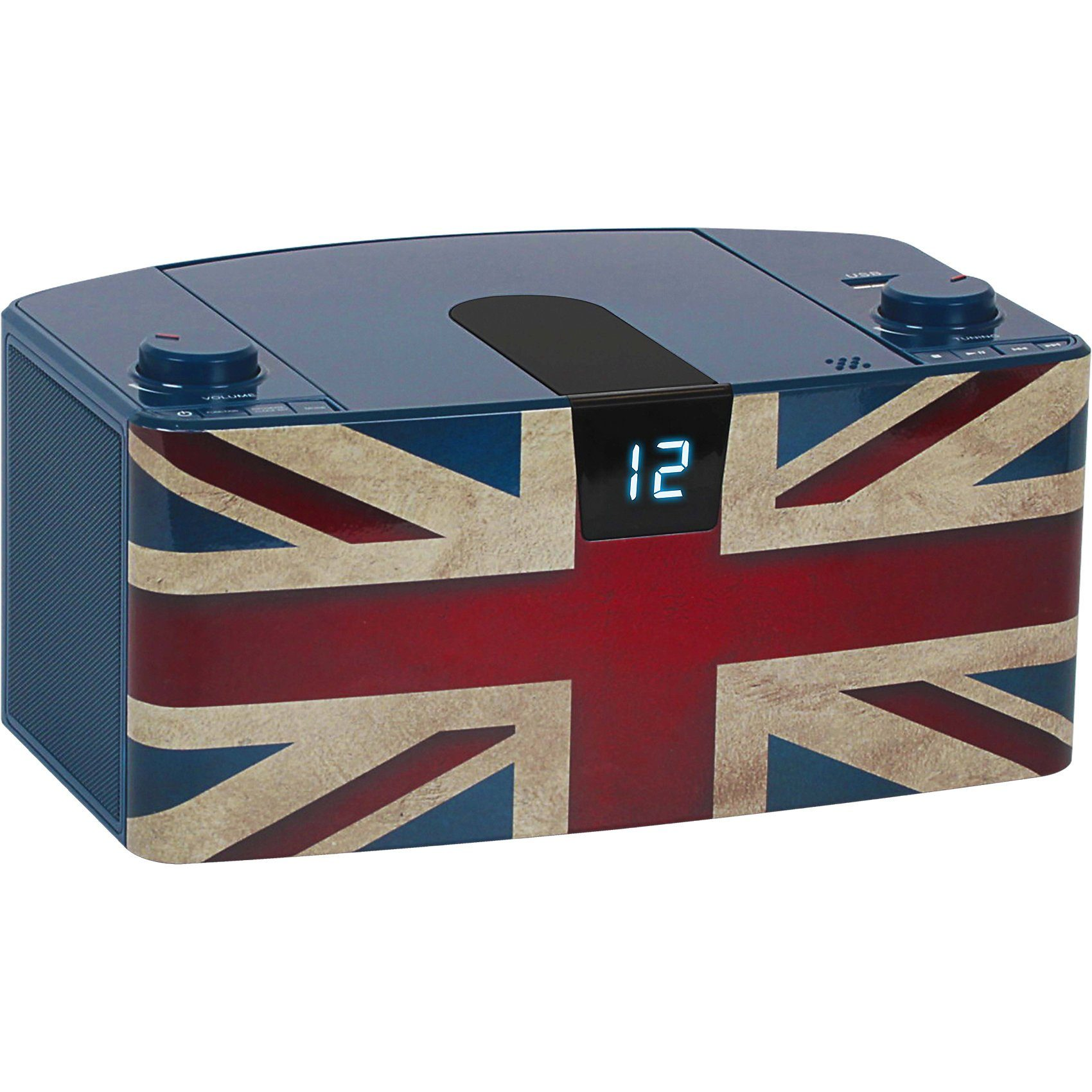 bigben CD-Player mit USB + Radio CD57 Union Jack