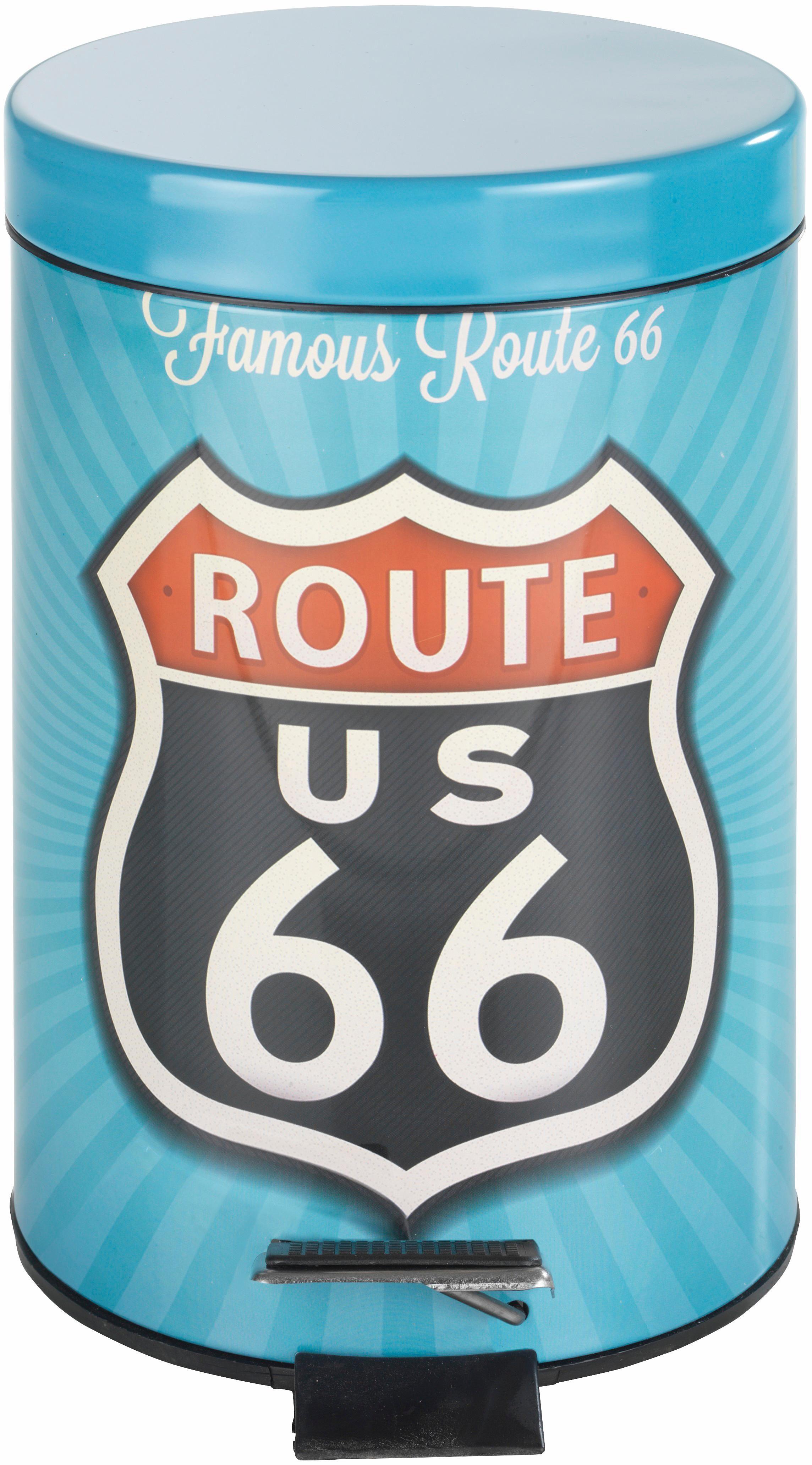 Wenko Kosmetik Treteimer Vintage Route 66, 3 Liter