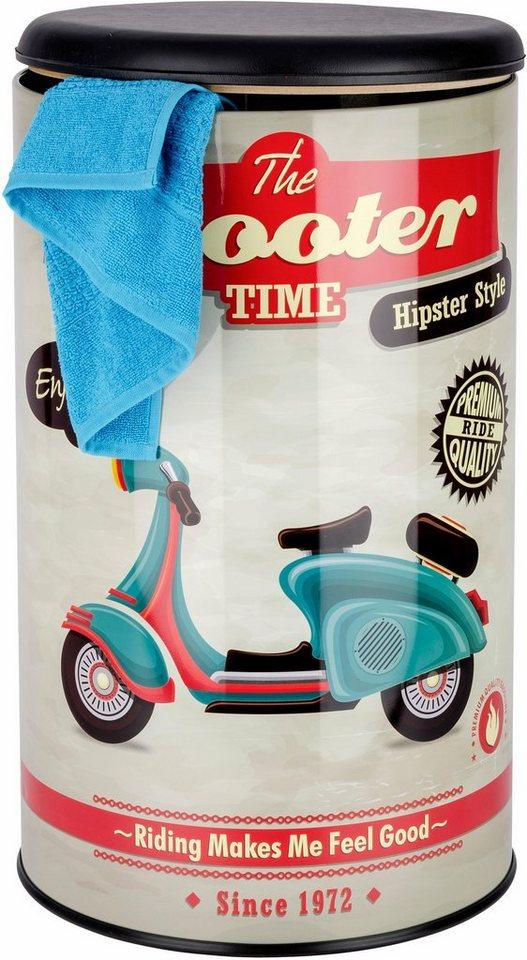 Wenko Badhocker Vintage Scooter in Mehrfarbig