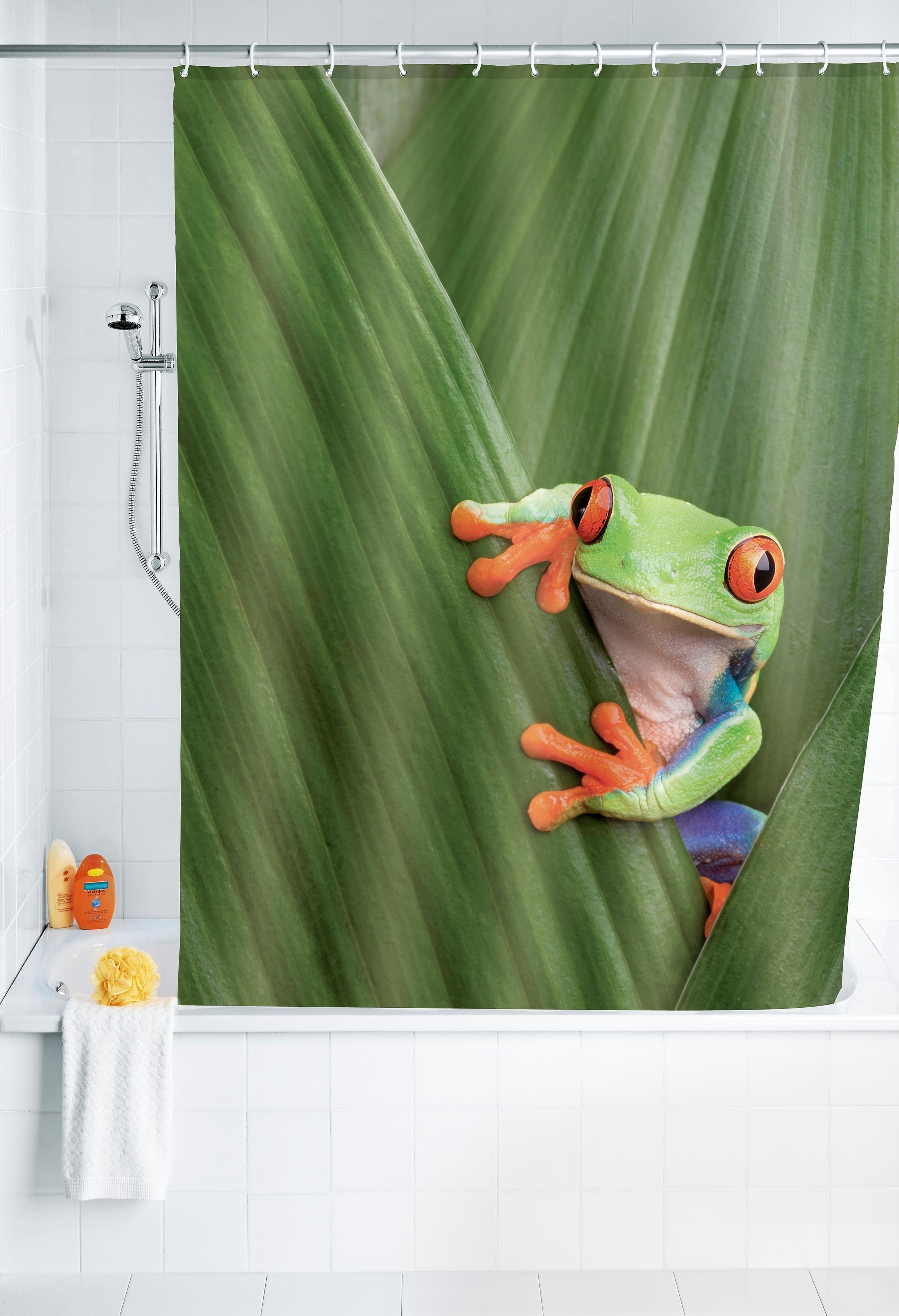 Wenko Duschvorhang Frog, 180/200 cm, waschbar