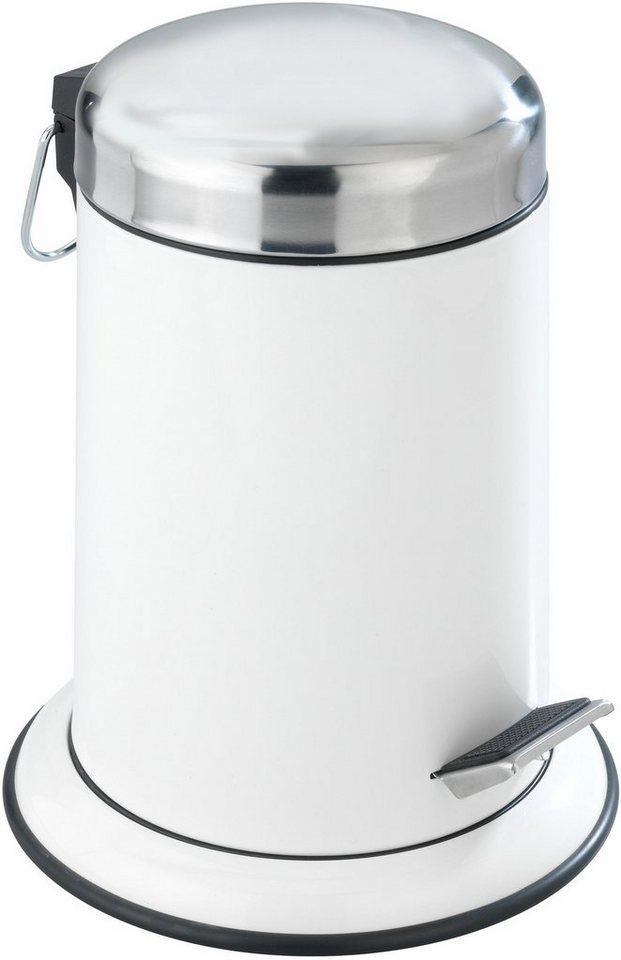 Wenko Kosmetik Treteimer Retoro, 3 Liter, Edelstahl rostfrei in Weiß