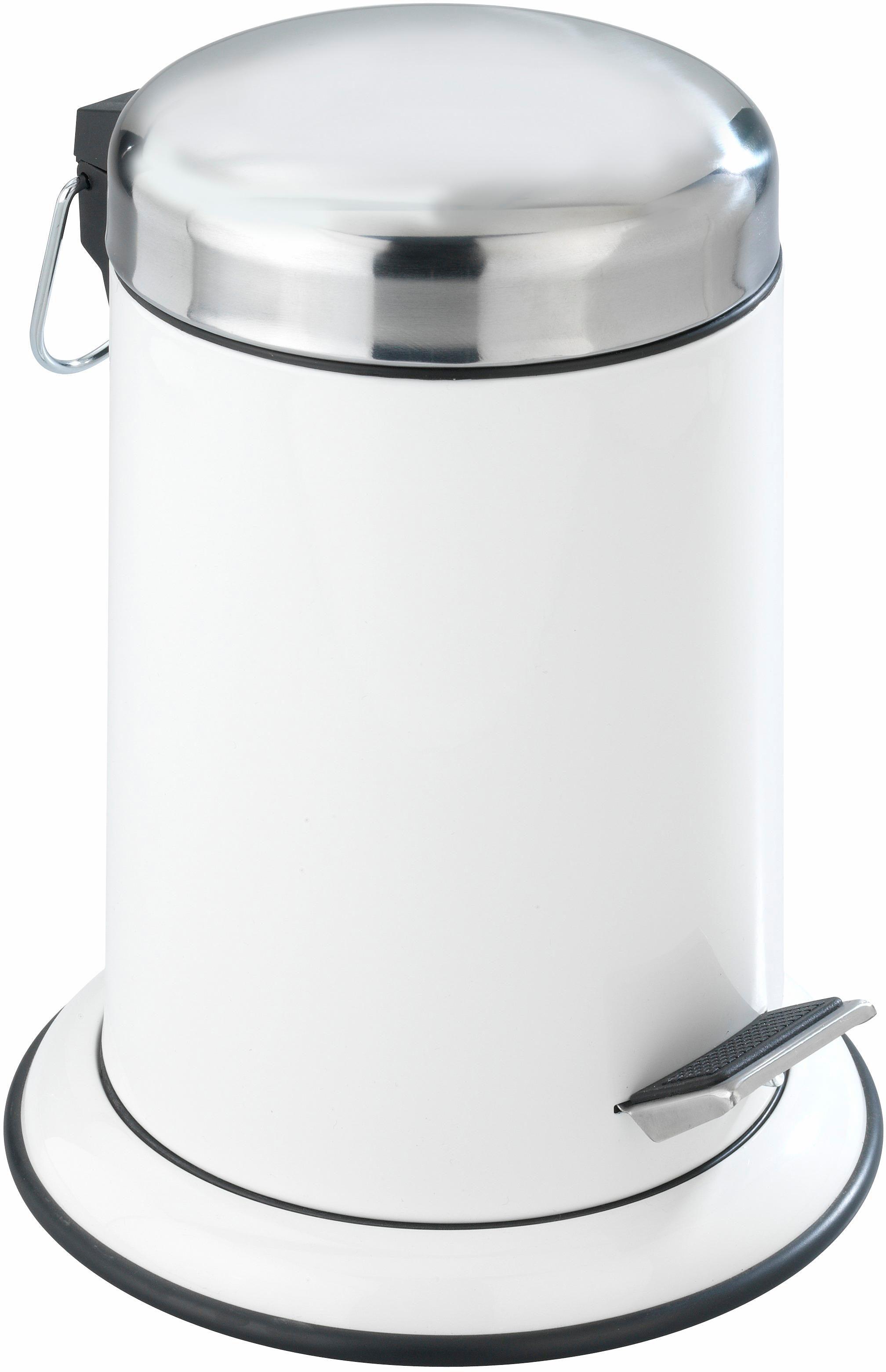 WENKO Kosmetik Treteimer Retoro, 3 Liter, Edelstahl rostfrei