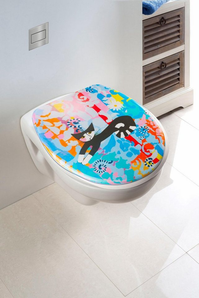 Wenko WC-Sitz Rosina Wachtmeister in Mehrfarbig