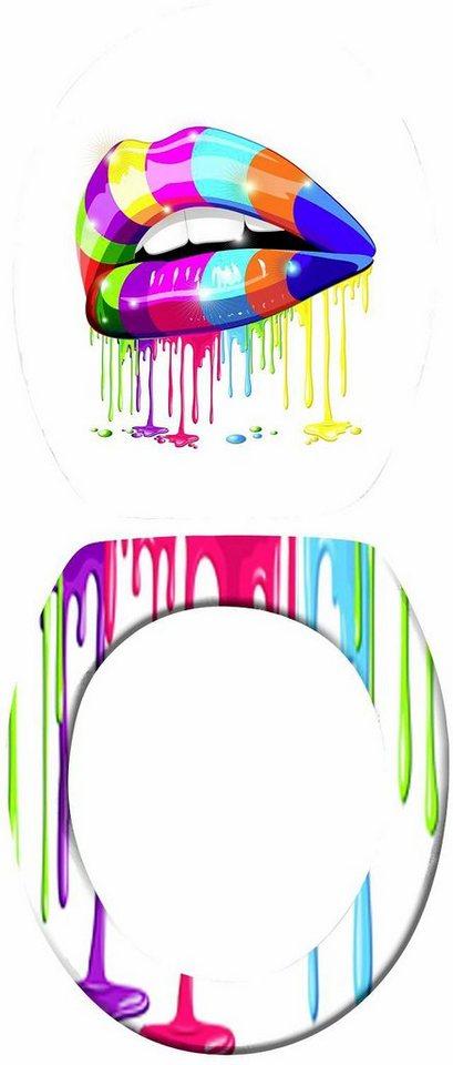 Wenko WC-Sitz Lip in Mehrfarbig