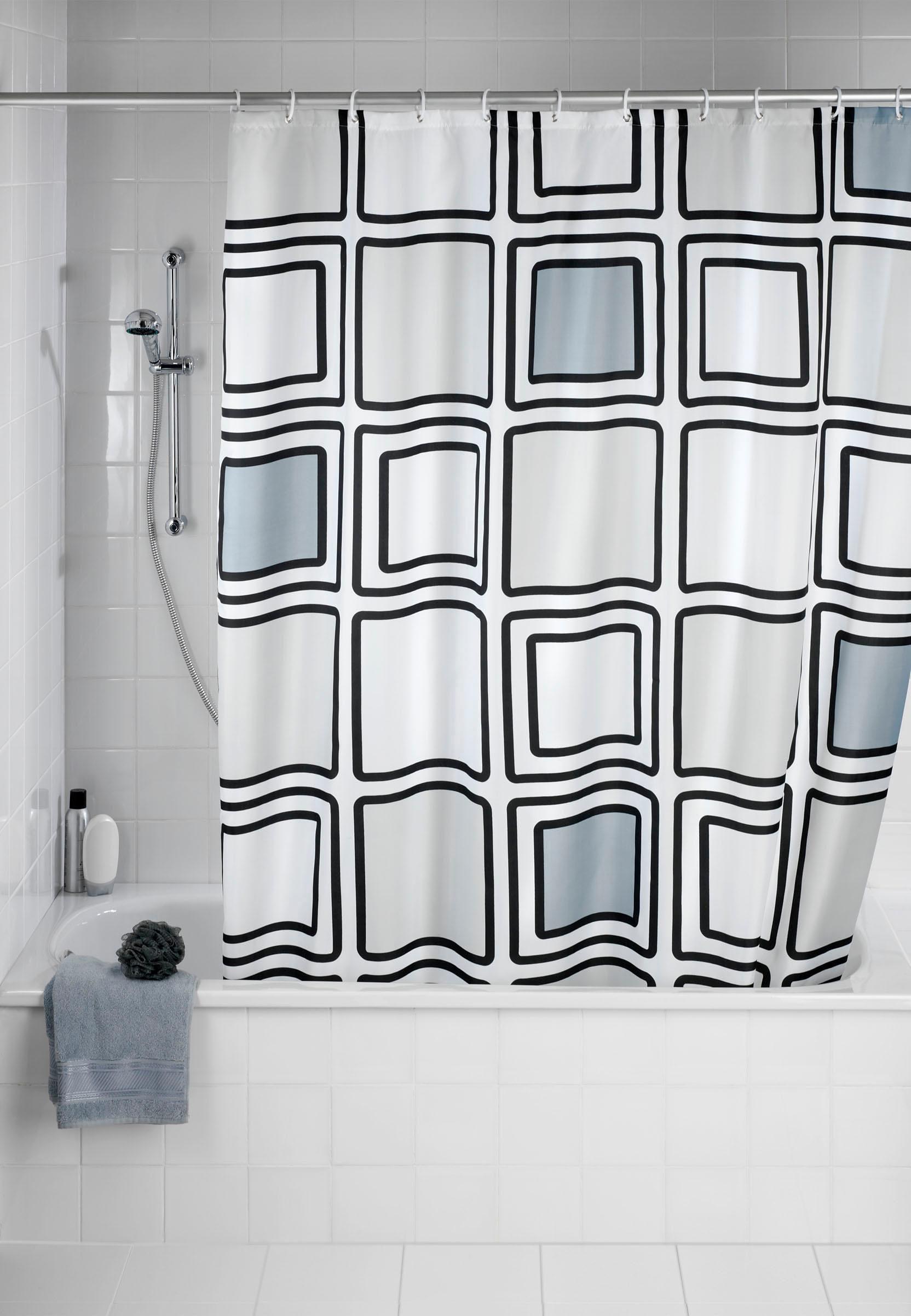 Wenko Anti-Schimmel Duschvorhang Mono, 180/200 cm, waschbar