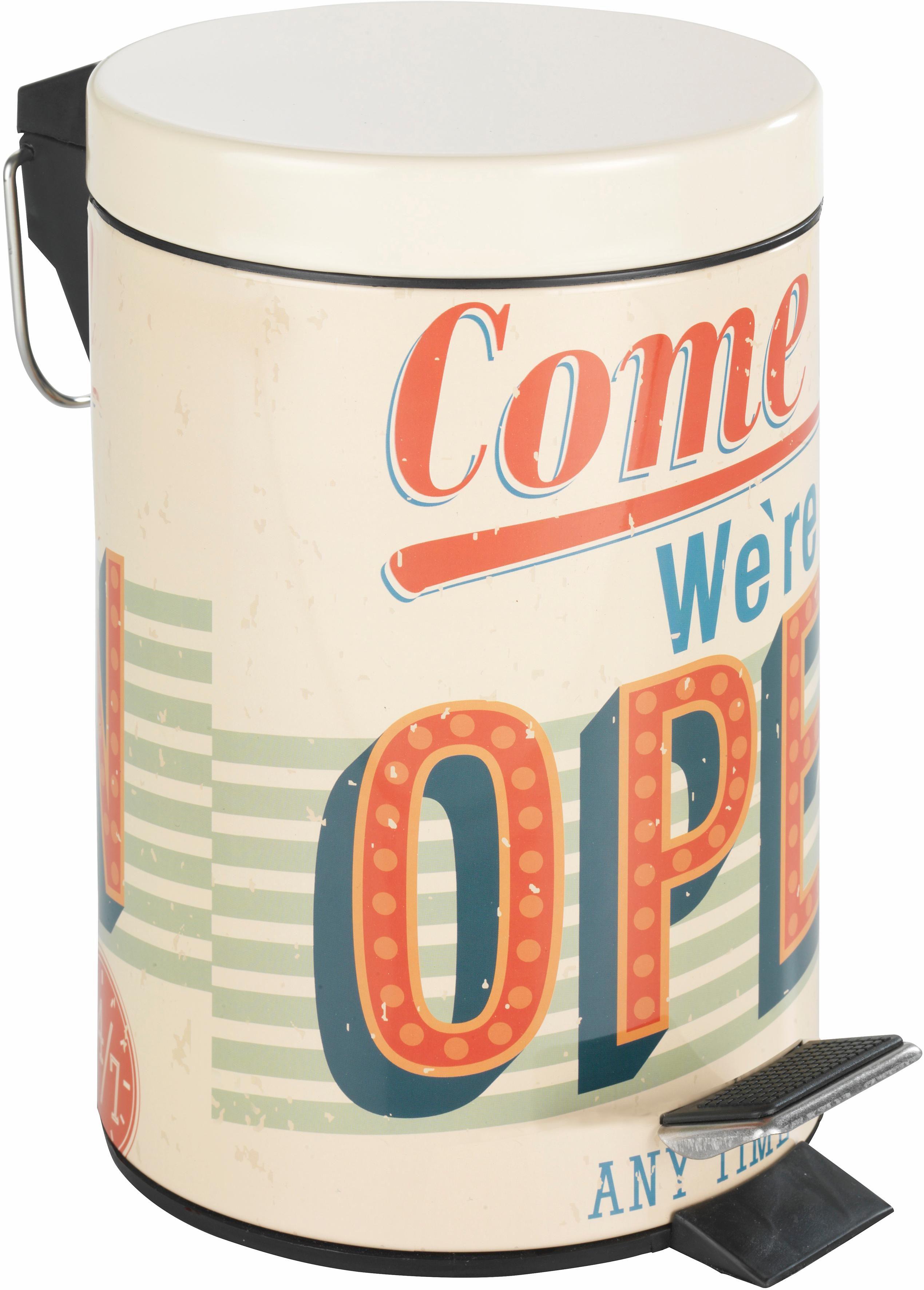Wenko Kosmetik Treteimer Vintage Open, 3 Liter