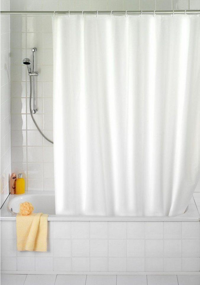wenko anti schimmel duschvorhang uni 180 200 cm waschbar. Black Bedroom Furniture Sets. Home Design Ideas