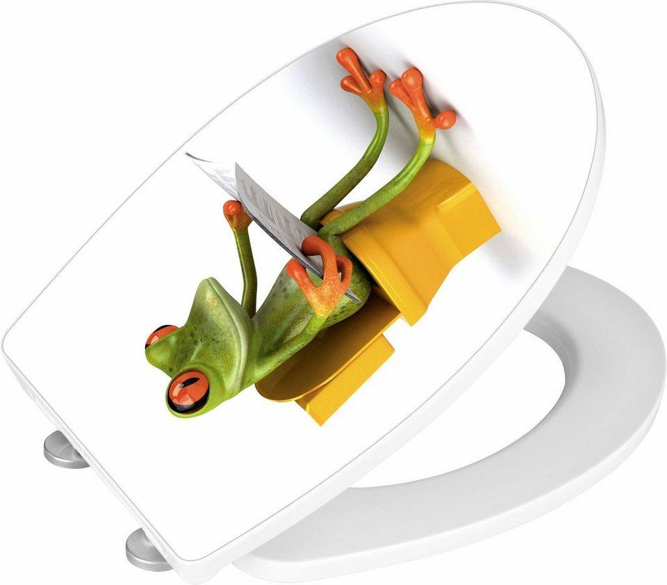 wenko wc sitz hochglanz acryl frog news absenkautomatik fix clip hygiene befestigung online. Black Bedroom Furniture Sets. Home Design Ideas