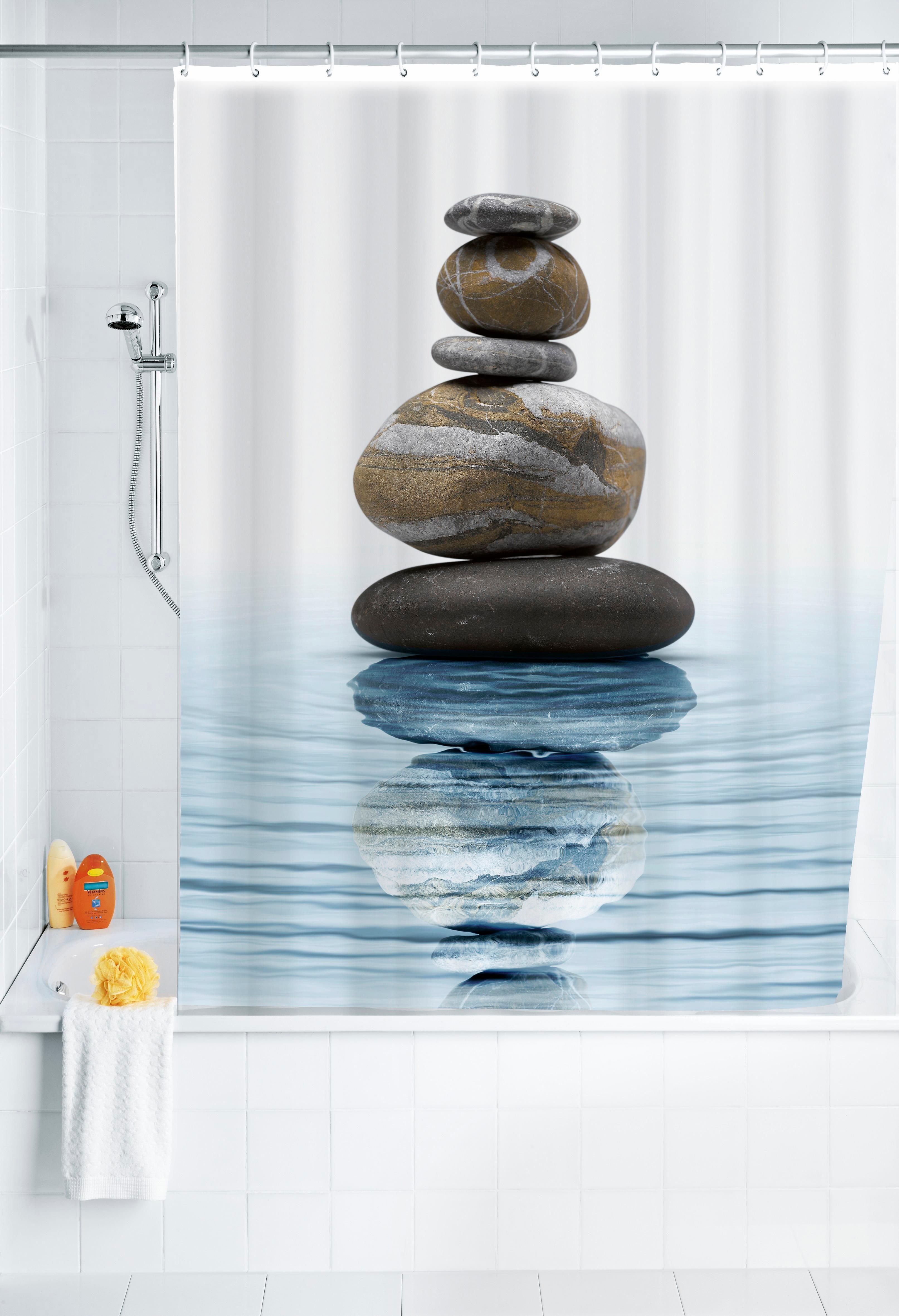 Wenko Duschvorhang Meditation, 180/200 cm, waschbar