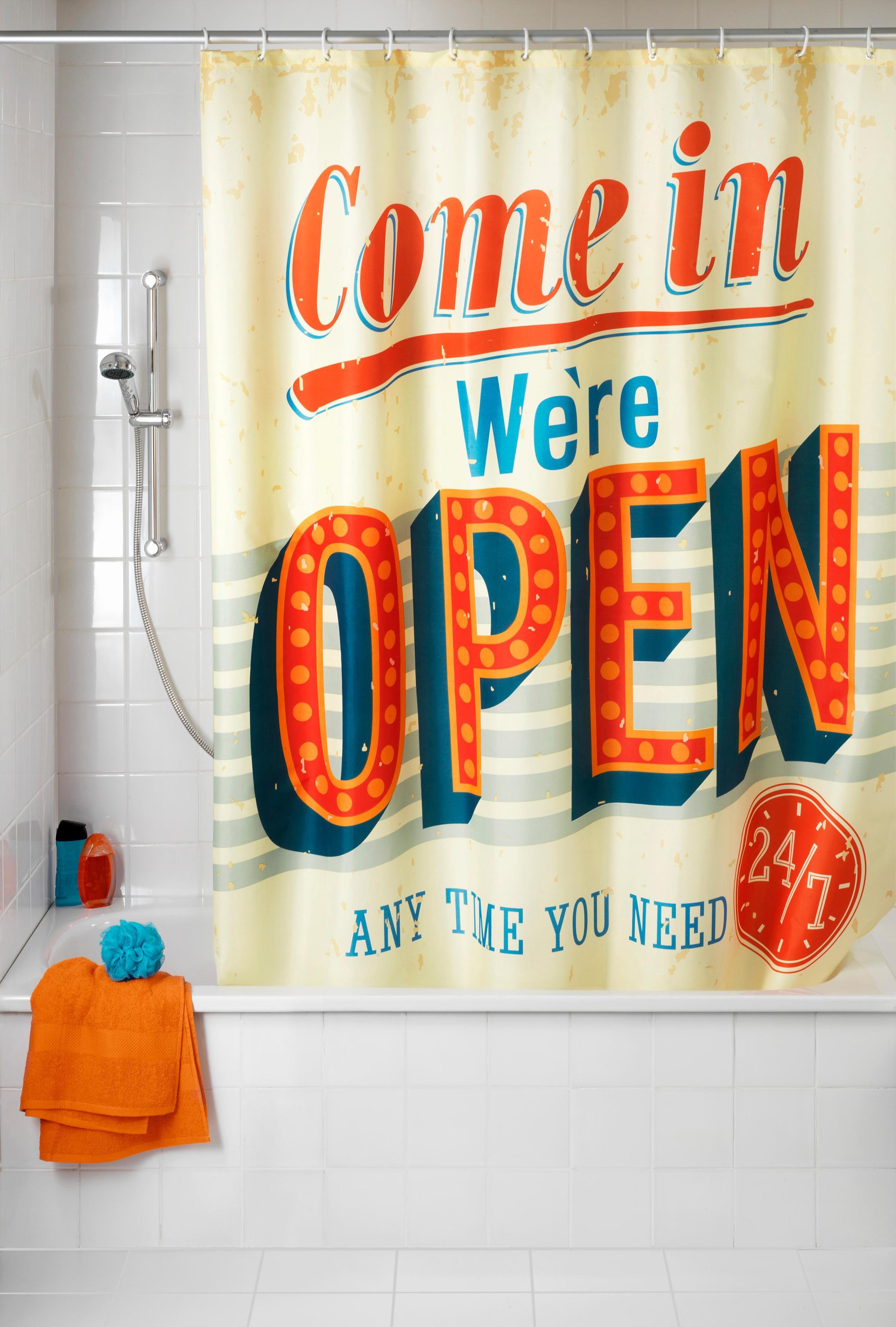 WENKO Duschvorhang »Vintage Open« breite 180 cm