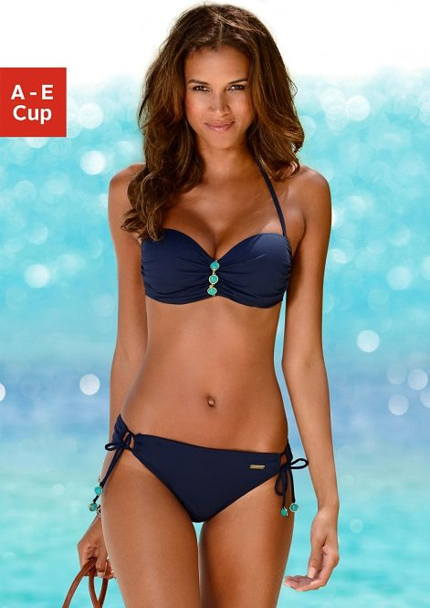 neue bilder von außergewöhnliche Auswahl an Stilen außergewöhnliche Farbpalette LASCANA Bügel-Bandeau-Bikini mit edlen Ziersteinen am Cup online kaufen |  OTTO