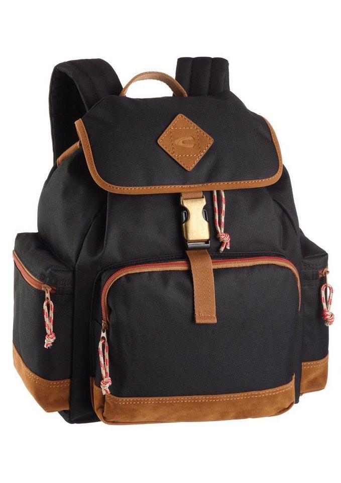 Rucksack von camel active mit Laptopfach in schwarz
