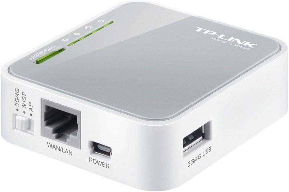 TP-Link Mobiler Router »TL-MR3020 - Portabler 3G & 4G (LTE)-Router« in Grau