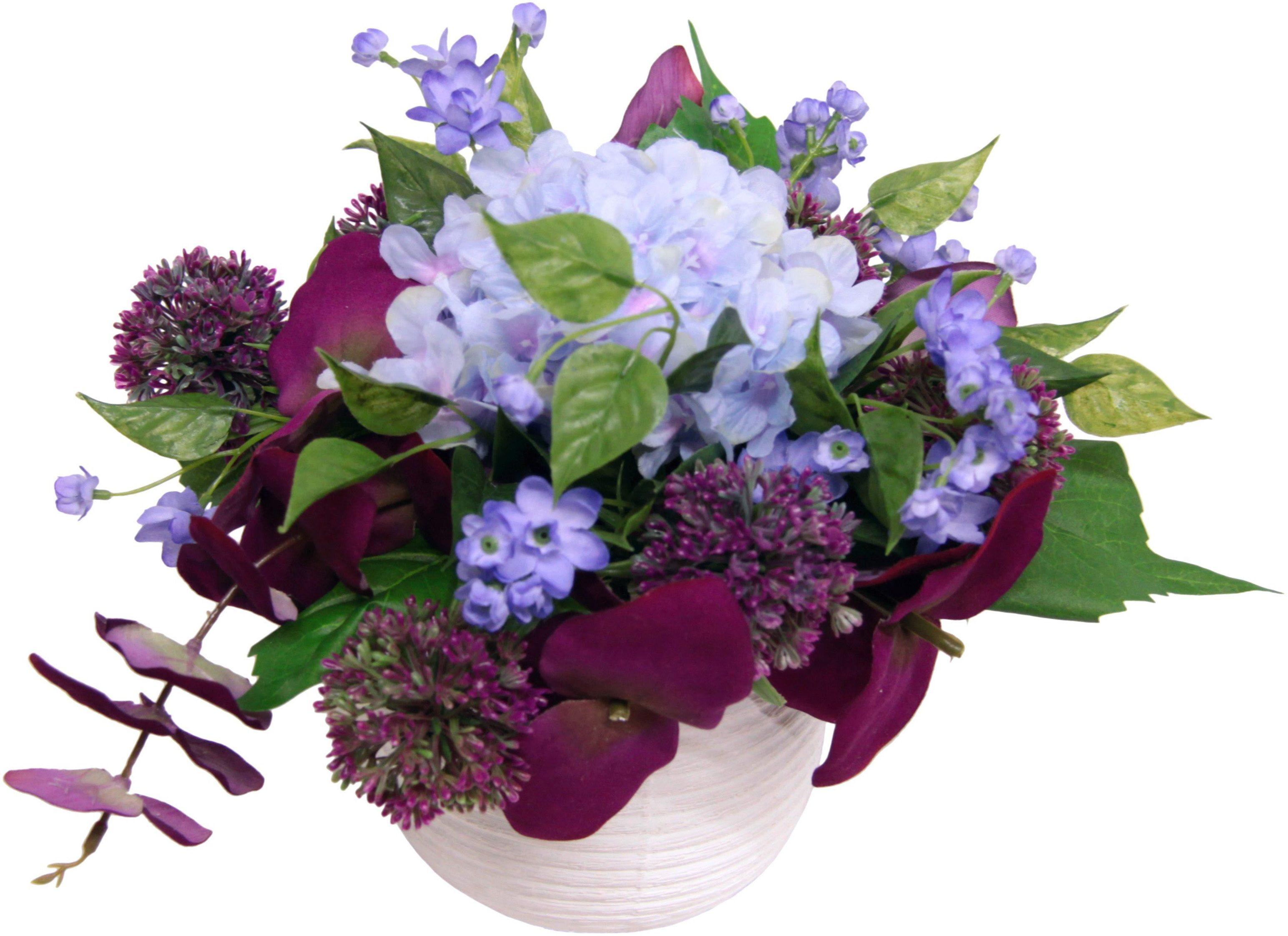 Home affaire Kunstblume »Hortensie/Allium«