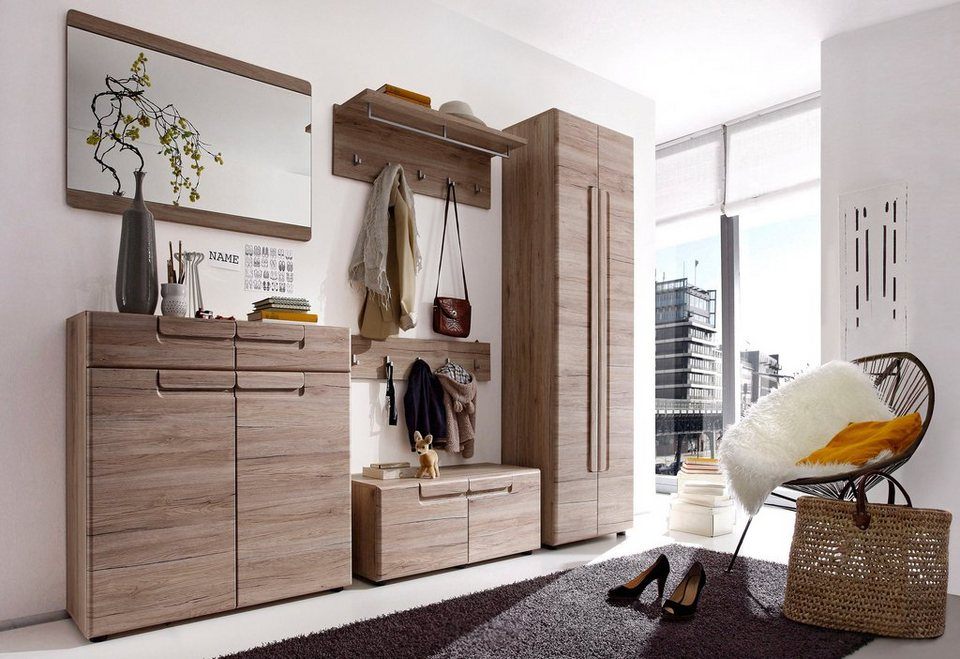 trendteam garderoben set malea 6 tlg mit griffmulden online kaufen otto. Black Bedroom Furniture Sets. Home Design Ideas