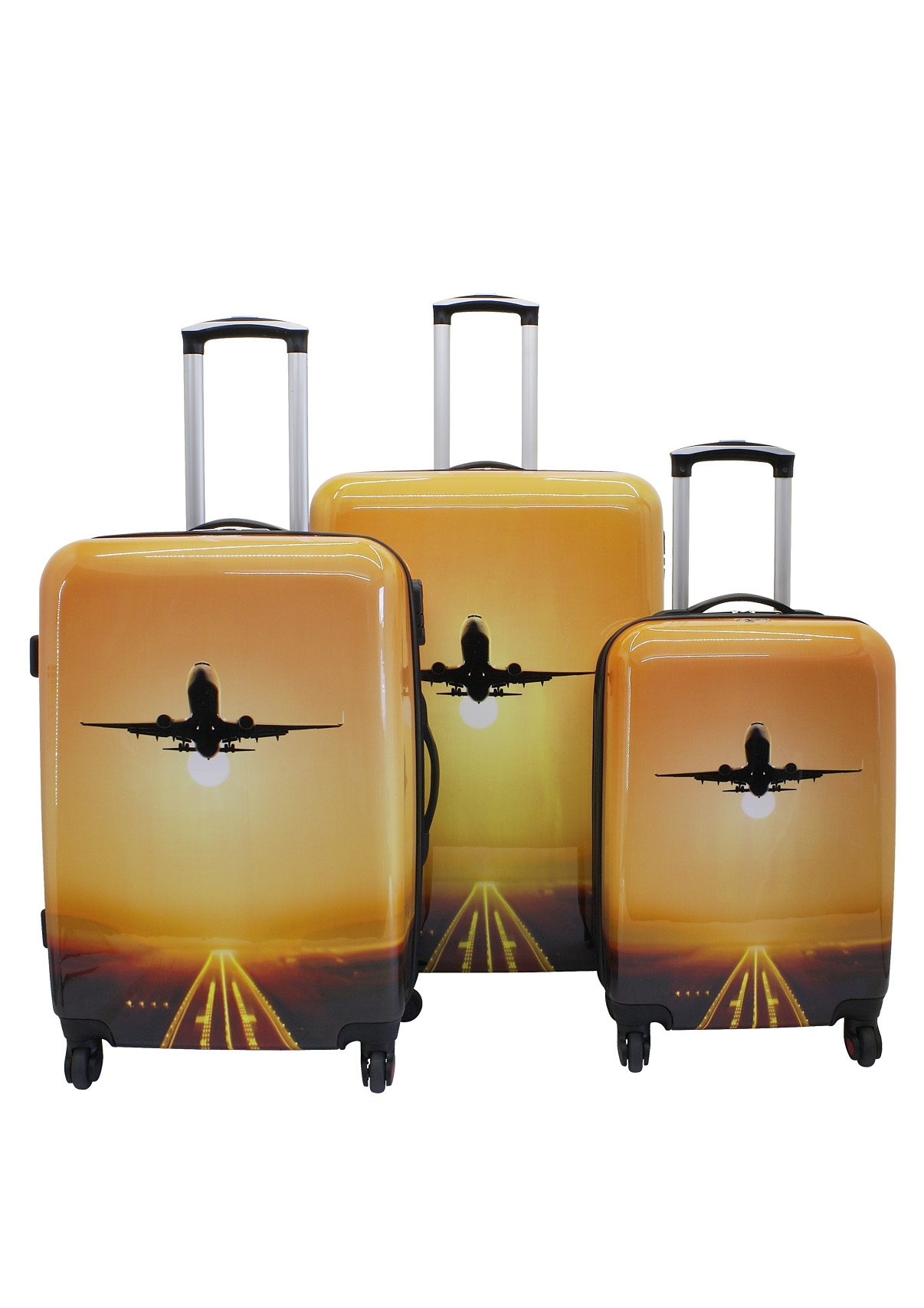 F23™ Hartschalen-Trolley-Set mit 4 Rollen, »Take Off« (3-tlg.)