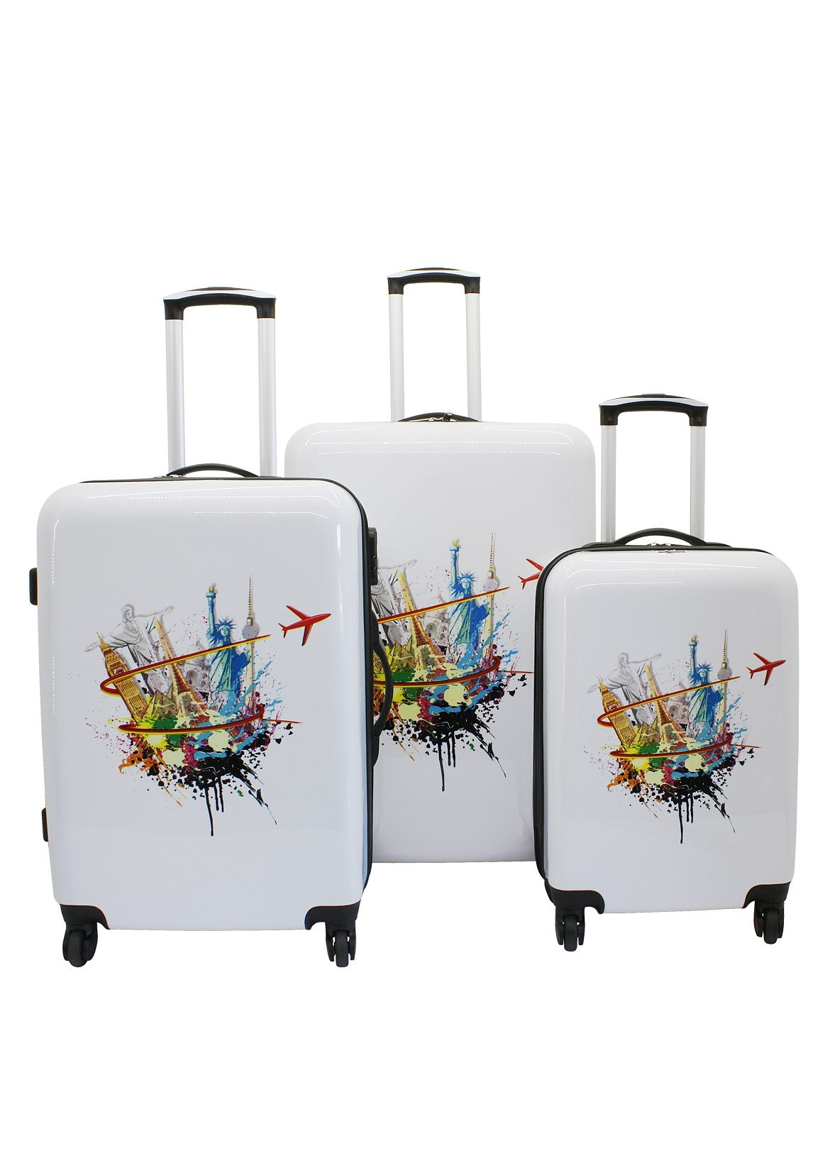 F23™ Hartschalen-Trolley-Set mit 4 Rollen, »Pop Art« (3-tlg.)