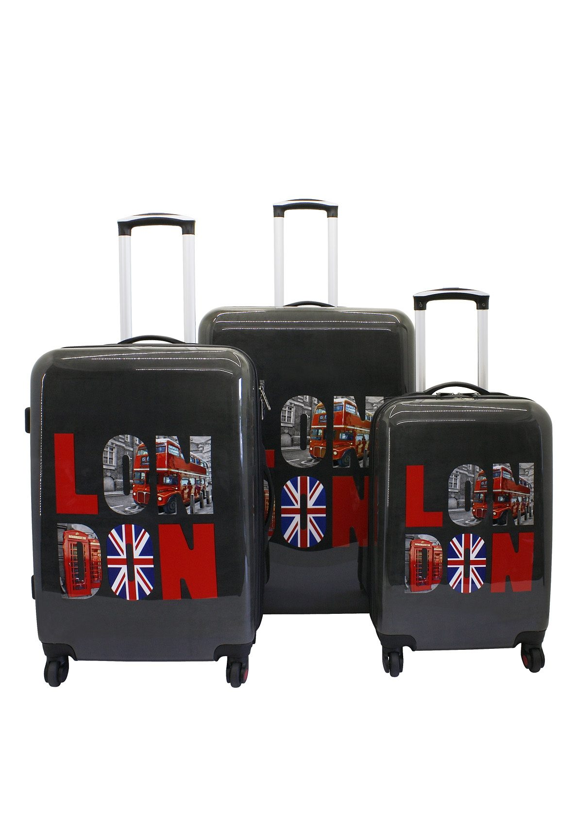 F23™ Hartschalen-Trolley-Set mit 4 Rollen, »London« (3-tlg.)