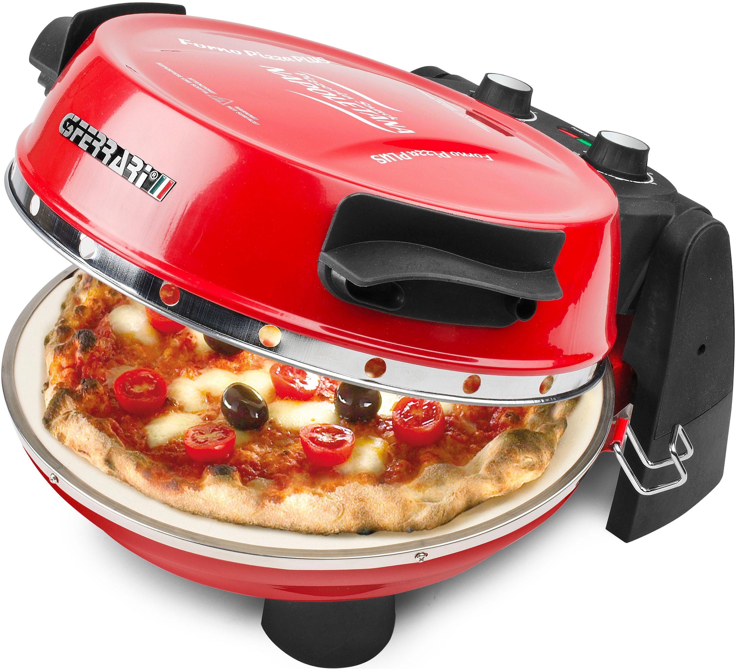 G3Ferrari Pizzamaker G10032 Napoletana mit zusätzlichem Stein im Deckel zum Überbacken