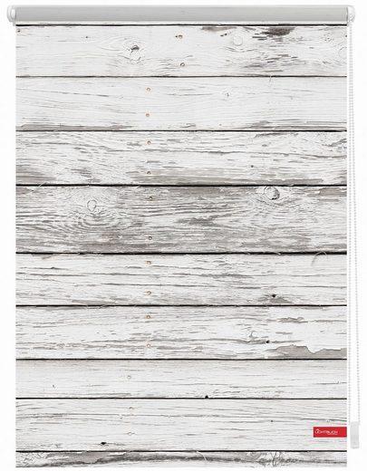 Seitenzugrollo »Klemmfix Motiv Bretter Vintage«, LICHTBLICK, Lichtschutz, ohne Bohren, freihängend, bedruckt