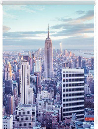 Seitenzugrollo »Klemmfix Motiv New York«, LICHTBLICK, Lichtschutz, ohne Bohren, freihängend, bedruckt
