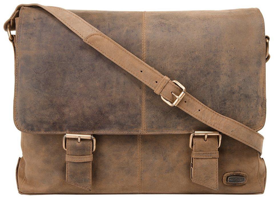 Harold's Leder Messengerbag »Antik« in braun