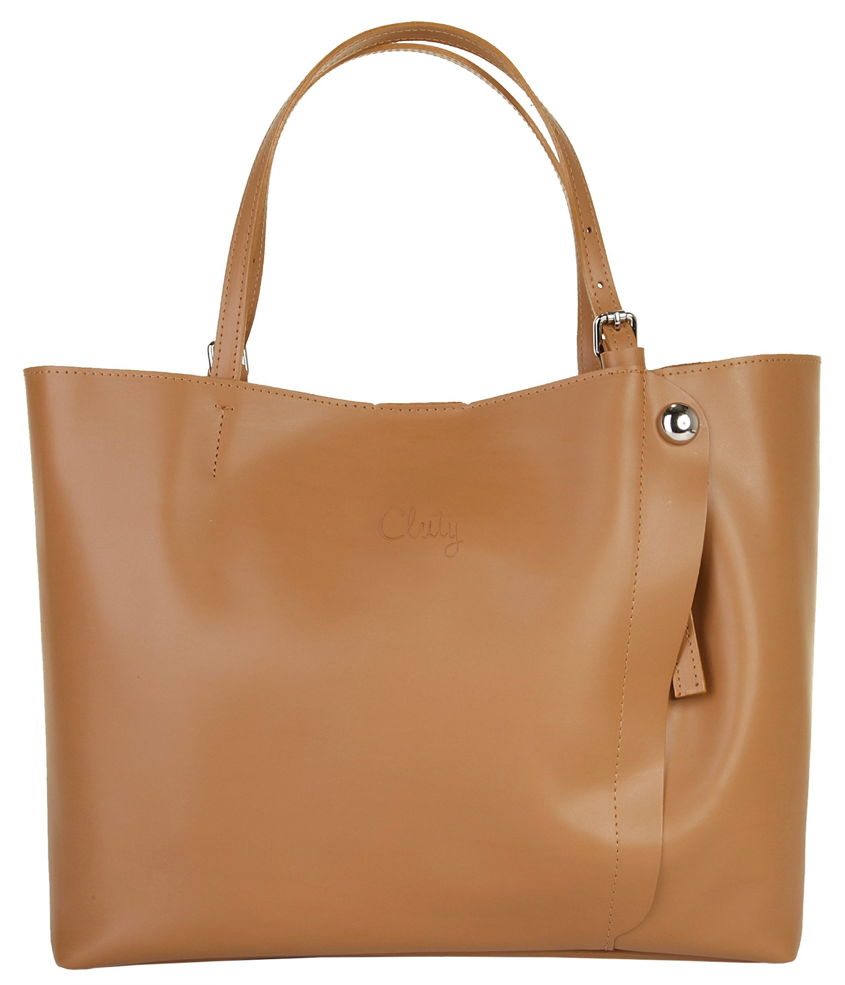 Cluty Leder Damen Shopper