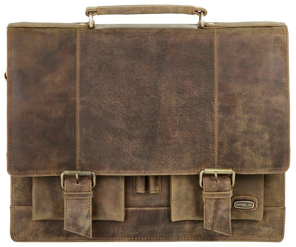 Harold's Leder Aktentasche »Antik« in braun