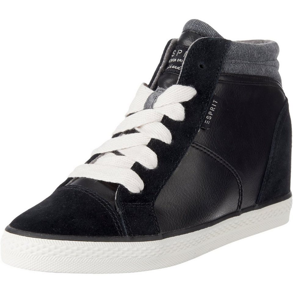 ESPRIT Star Wedge Sneakers in schwarz