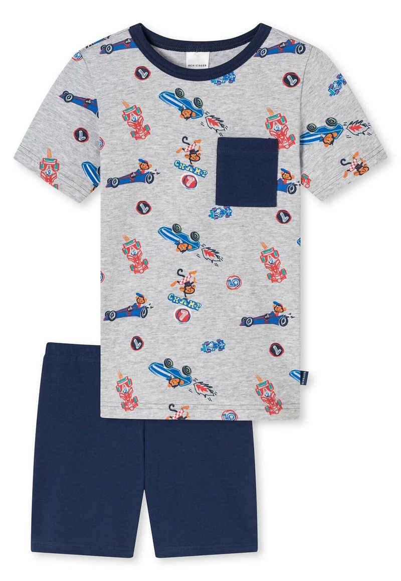 Schiesser Pyjama »Jungen Schlafanzug Set, 2-tlg. - kurz, Shorty,«