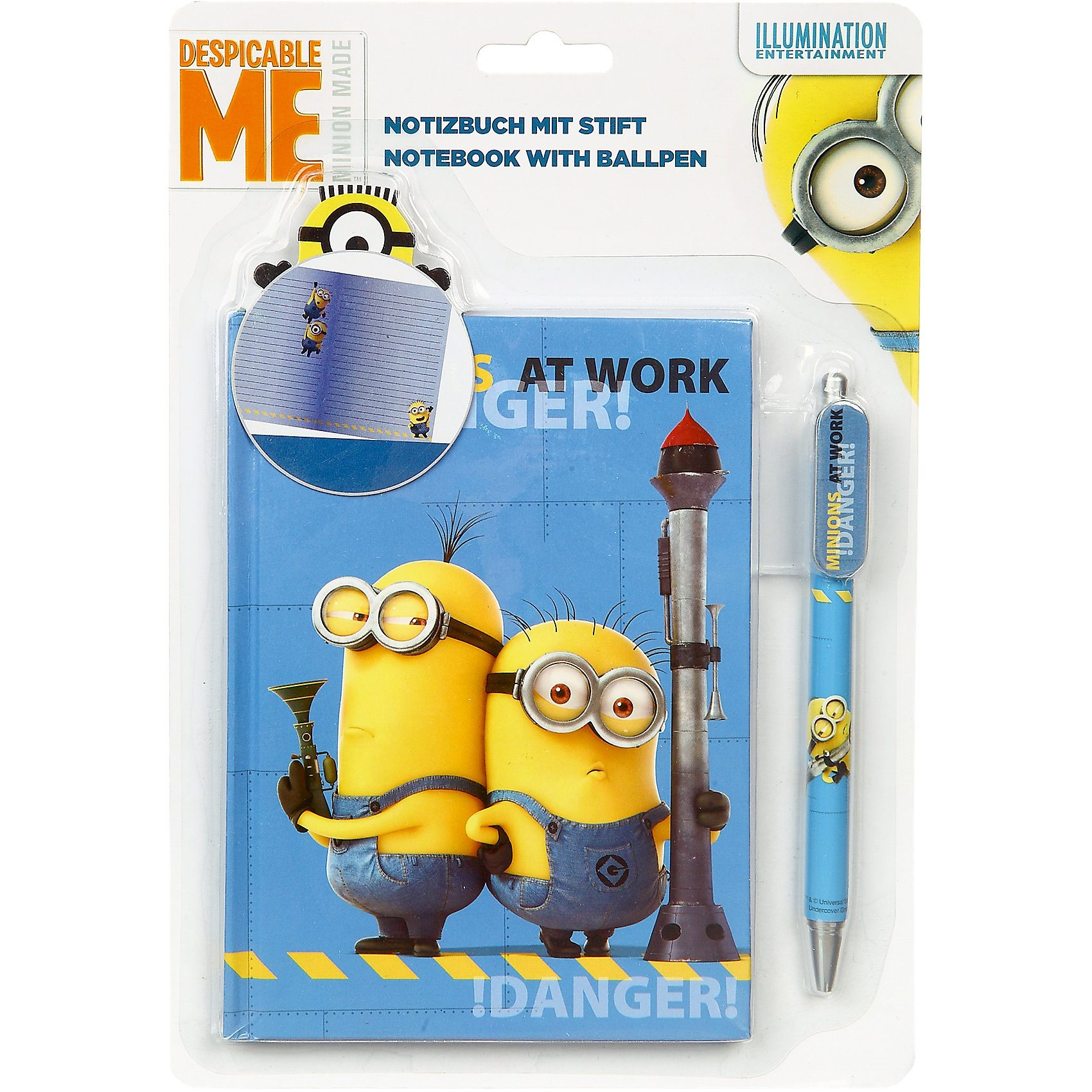 UNDERCOVER Notizbuch mit Stift Minions