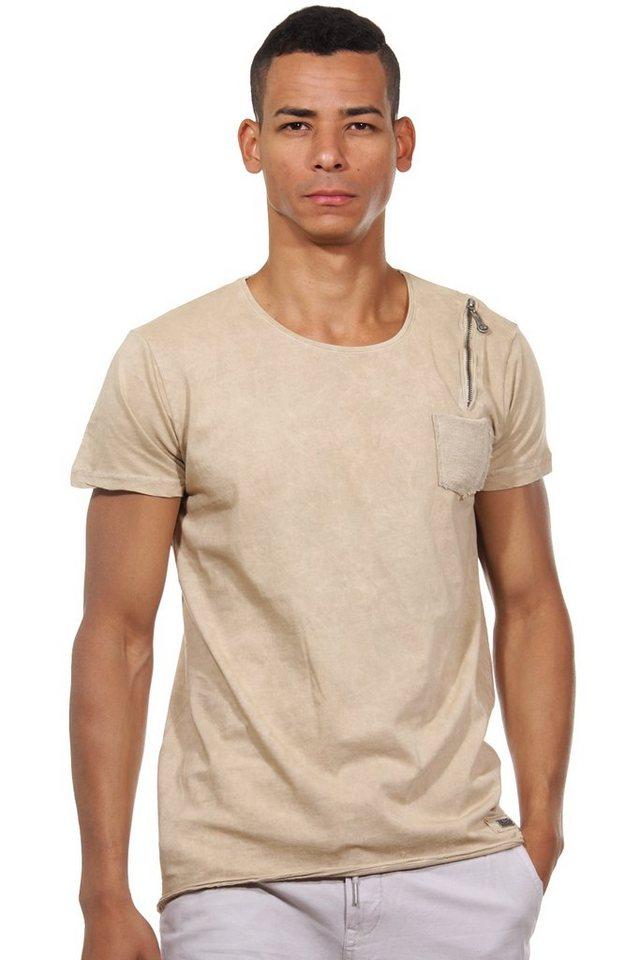 R-NEAL T-Shirt Rundhals slim fit in beige