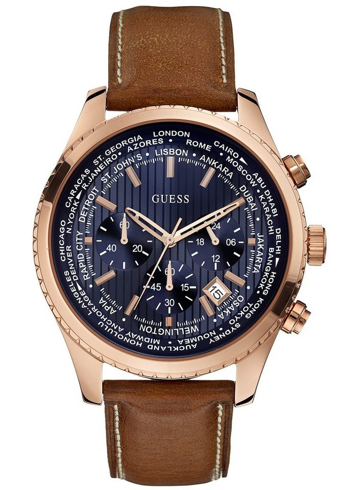 Guess Chronograph »W0500G1« in cognac
