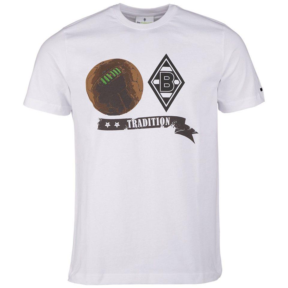 KAPPA T-Shirt »Borussia Mönchengladbach T-Shirt Retro« in white