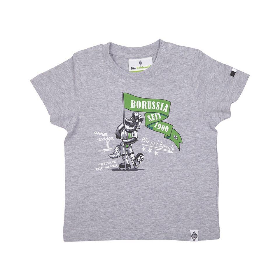 KAPPA T-Shirt »Borussia Mönchengladbach T-Shirt Jünter II« in grey melange