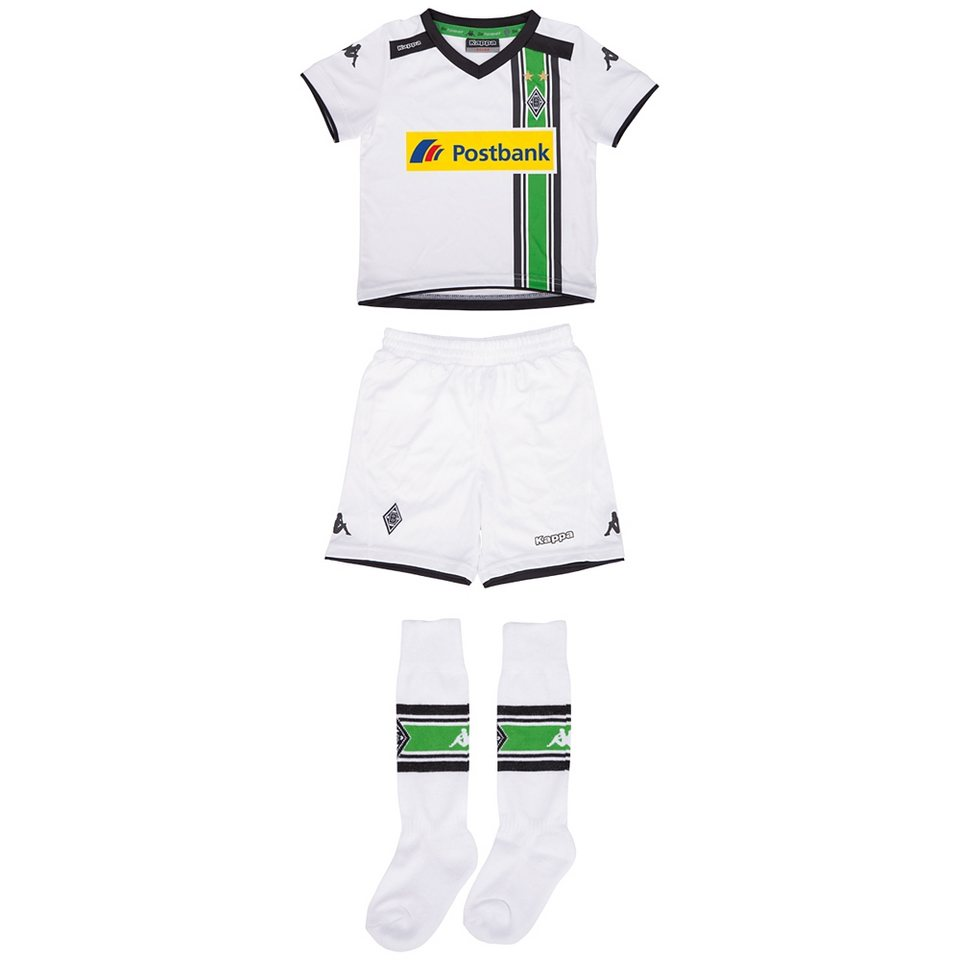 KAPPA Mini-Trikot-Set »Borussia Mönchengladbach Mini Trikot Set 15-16« in white