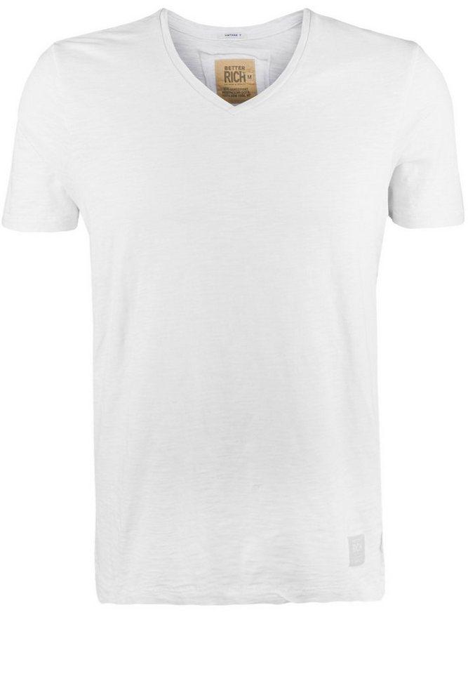 Better Rich Shirt »V-NECK T-SHIRT« in white