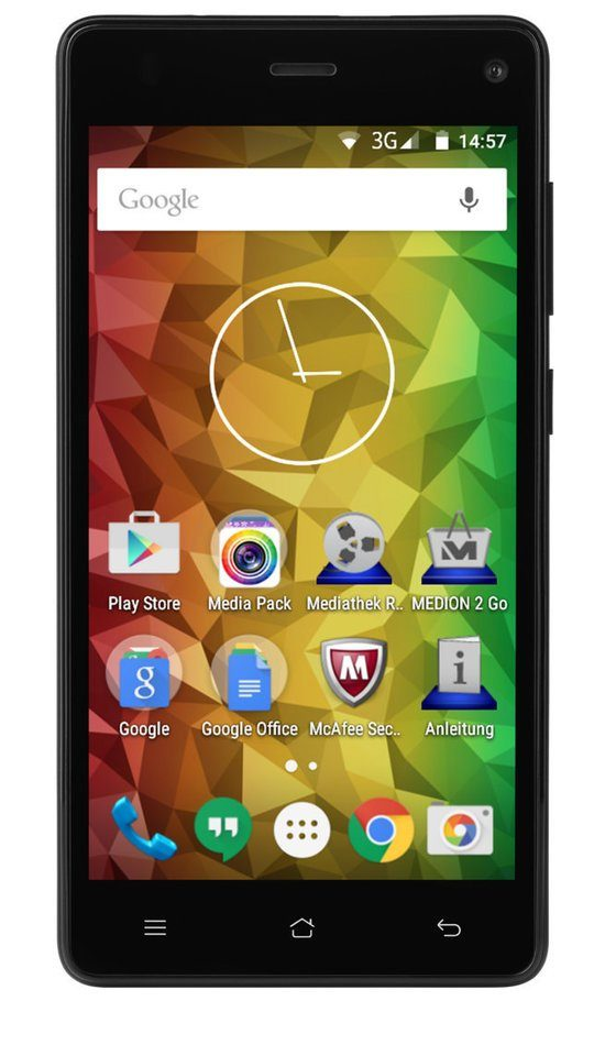 "MEDION® 12,7cm/5"" Smartphone LIFE® E5001 (MD 99206) »1,3 GHz Quad-Core,8GB Speicher,Dual SIM«"