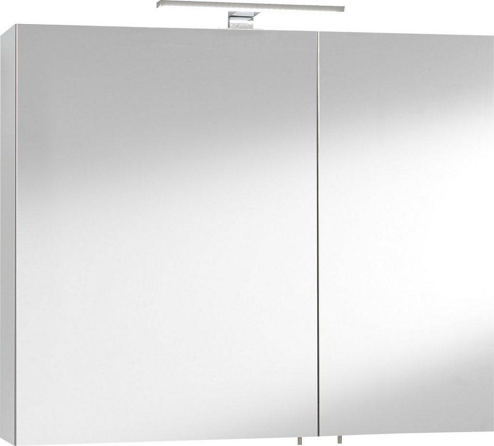 Optifit Spiegelschrank »Samoa« mit LED-Beleuchtung in weiß